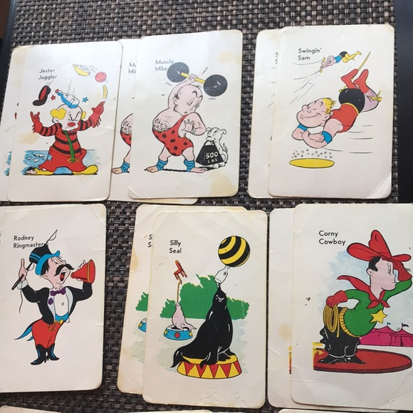 Collectable Game OLD MAID AT THE CIRCUS EDU-CARDS
